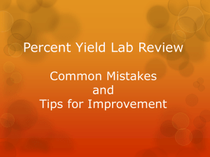 Percent Yield Lab Review Common Mistakes and Tips for