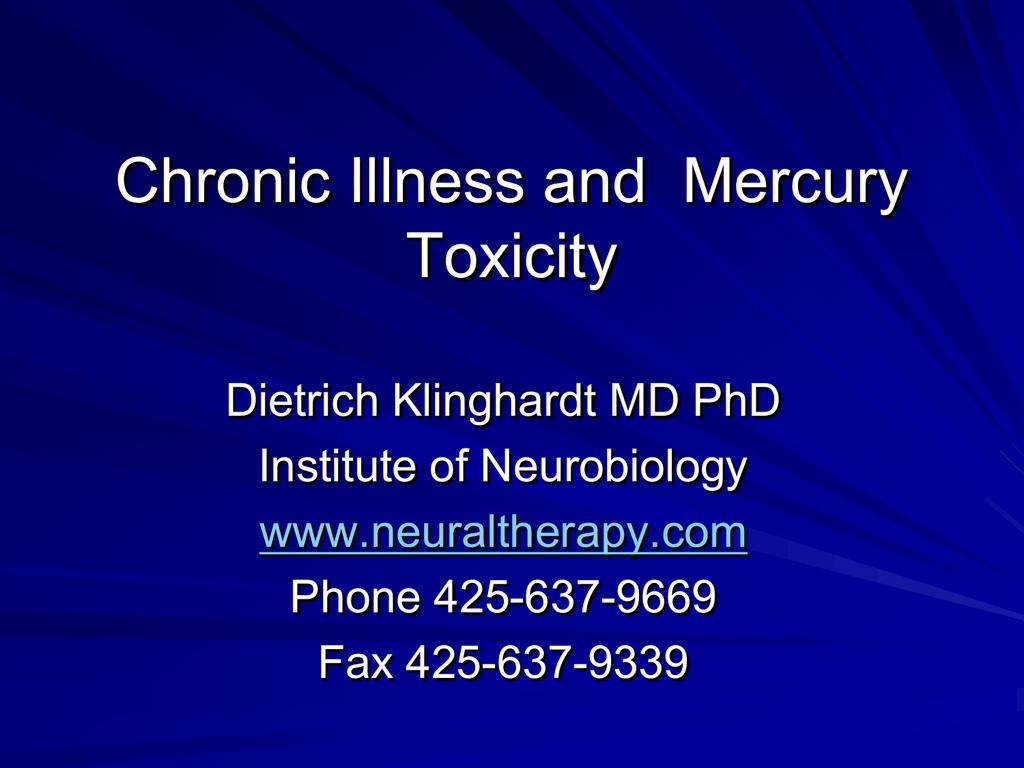 Dietrich Klinghardt MD PhD