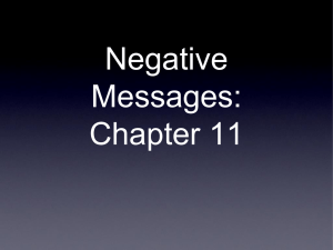 Negative Messages: Chapter 11