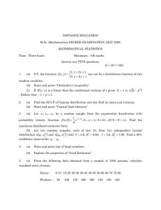 (Mathematics) DEGREE EXAMINATION, MAY 2009