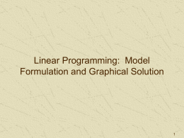 "dissertation on linear programming National institute of technology rourkela certifcate this is to certify that the thesis entitled, ""truck allocation model using linear programming and queueing theory"" submitted by soubhagya sahoo in partial."