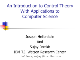Classical Control Theory for Computer Science