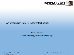 DTV receiver technology – an introduction - Interactive-TV-Web