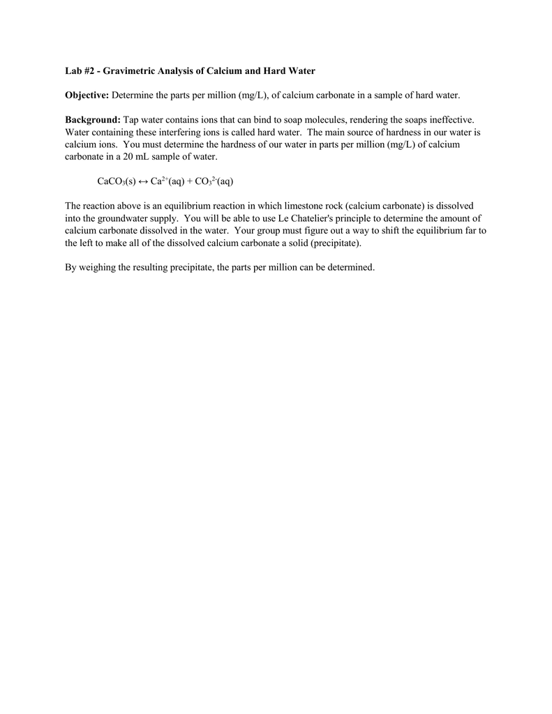 lab 3 gravimetric analysis of a metal carbonate