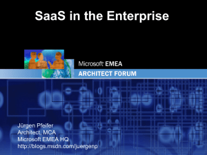 SaaS in the Enterprise - Center