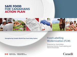 Presented - the Canadian Health Food Association