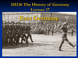 HI136 The History of Germany Lecture 17