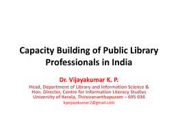Capacity Building of Public Library Professionals in India