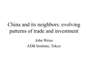 China and its neighbors: evolving patterns of trade and