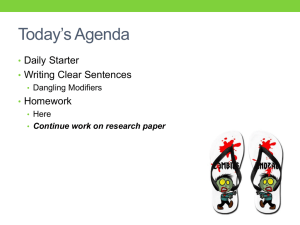Today's Agenda - English With Mrs. Pixler