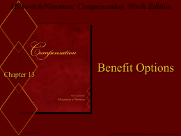 Milkovich/Newman: Compensation, Ninth Edition