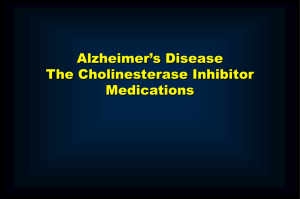 Current Management of Alzheimer's Disease