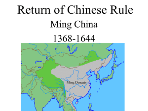 Return of Chinese Rule