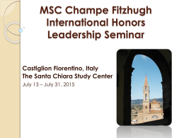 Champe Fitzhugh, Jr. International Honors Leadership Seminar