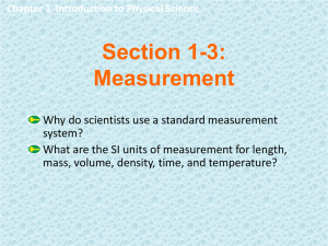 Section 1-3: Measurement