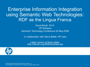 Enterprise Information Integration using Semantic Web Technologies