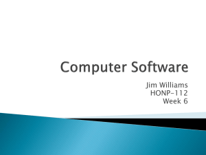 Week 6 Presentation (Computer Software)
