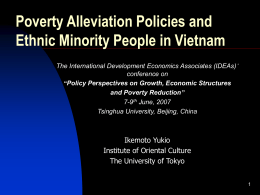 Poverty alleviation policies and ethnic minority people in
