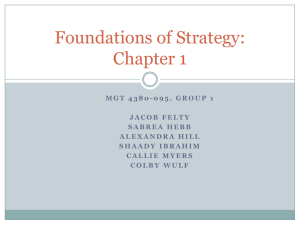 Foundations of Strategy 3 Chapter 1: The Concept of Strategy
