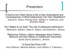 Do I Matter to my Dad? The role of adolescent attributions.