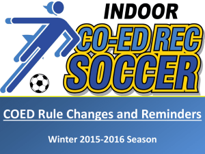 Winter 2015-2016 Rule Changes and Reminders - Calgary Co