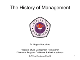 Chapter 2 The History of Management