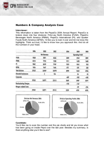 Numbers & Company Analysis Case Interviewer: This information is