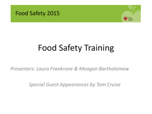food safety training 2016