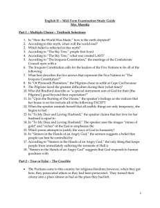 English II -- Mid-Term Examination Study Guide Mrs. Marotta Part 1