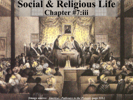 Social and Religious Life