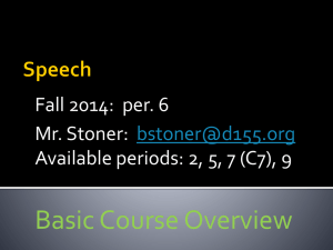 Syllabus.Speech