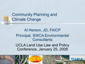 Community Planning and Climate Change