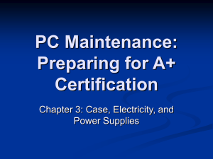 PC Maintenance: Preparing for A+ Certification
