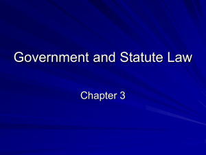 Government and Statute Law