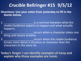 essay questions for the crucible by arthur miller