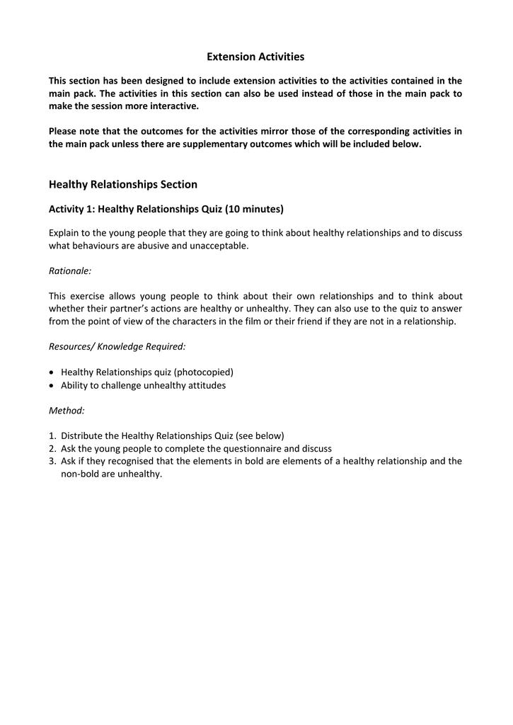 healthy vs unhealthy relationships quiz pdf