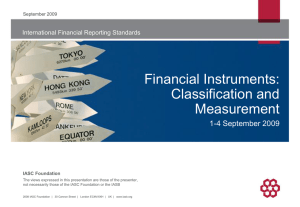 Financial Instruments - Recognition and Measurement