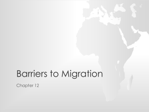 Barriers to Migration