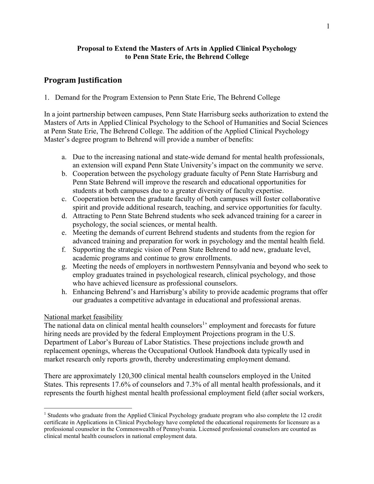 Program justification penn state behrend 1betcityfo Choice Image