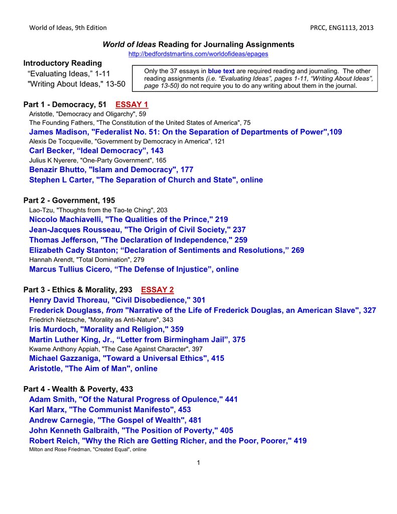 view required reading for journals