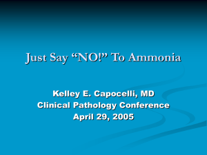 "Just Say ""NO!"" To Ammonia"