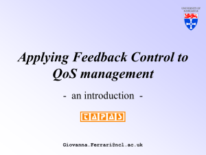 Applying Feedback Control to QoS management