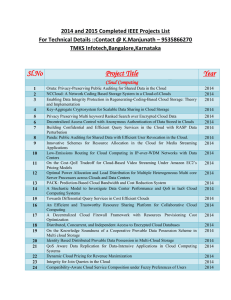 2014 and 2015 Completed IEEE Projects List For Technical Details