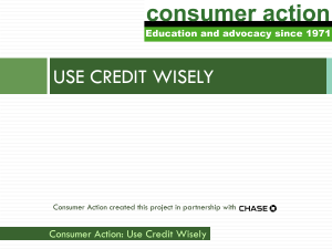 Learning About Credit