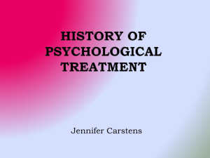 History of Psychological Treatment