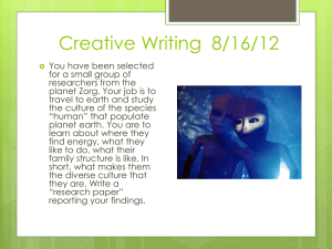 Creative Writing 8/16/12