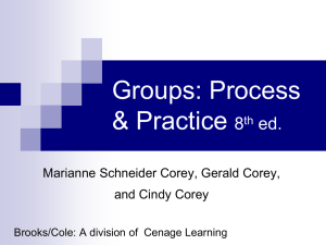 Groups: Process and Practice- 6th ed.