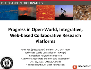 Progress in Open-World, Integrative, Web