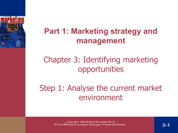 Chapter 3 Evaluating Opportunities in Changing Market Environments