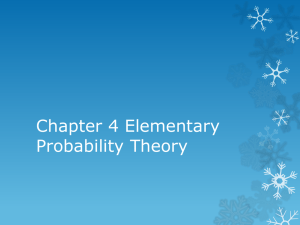 Chapter 4 Elementary Probability Theory